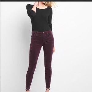 Gap corduroy skinny pants.... pants are burgundy